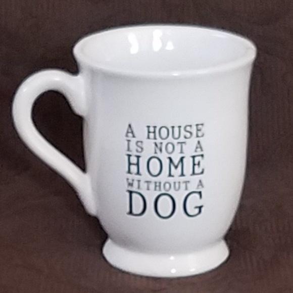 f69724009d8e7 Mud Pie Other | Dog Theme Coffeetea Mug Whiteblack Ruff | Poshmark